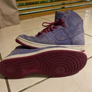 Purple suede high tops